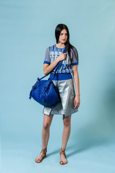 sac basket bleu