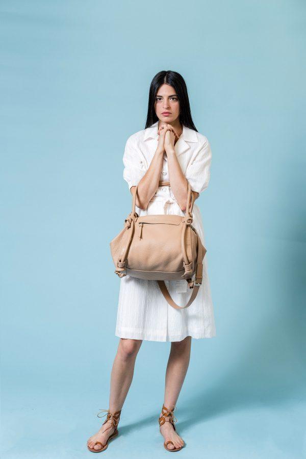 basket bag tan