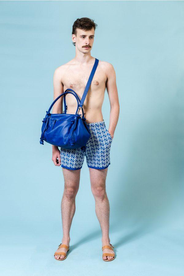 basket bag blue