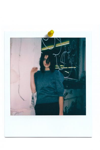 Cristal sweater in polaroid picture